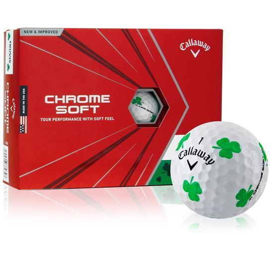 Callaway Golf Chrome Soft Shamrock TruVis Golf Balls