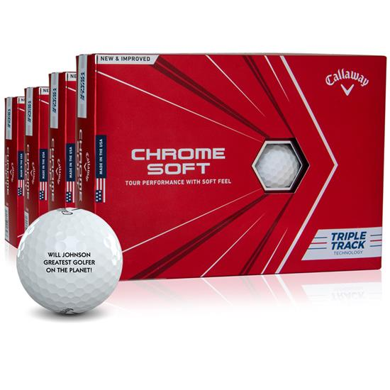 Callaway Golf Chrome Soft Triple Track Golf Balls - Buy 3 Get 1