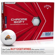 Callaway Golf Custom Logo Chrome Soft Triple Track Golf Balls