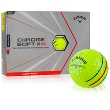 Callaway Golf Chrome Soft X LS Yellow Triple Track Personalized Golf Balls