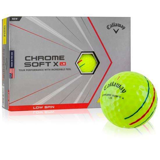 Callaway Golf Chrome Soft X LS Yellow Triple Track Golf Balls