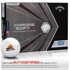 Callaway Golf Chrome Soft X Triple Track Custom Logo Golf Balls