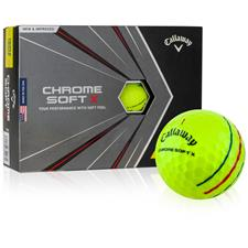 Callaway Golf Chrome Soft X Yellow Triple Track Personalized Golf Balls