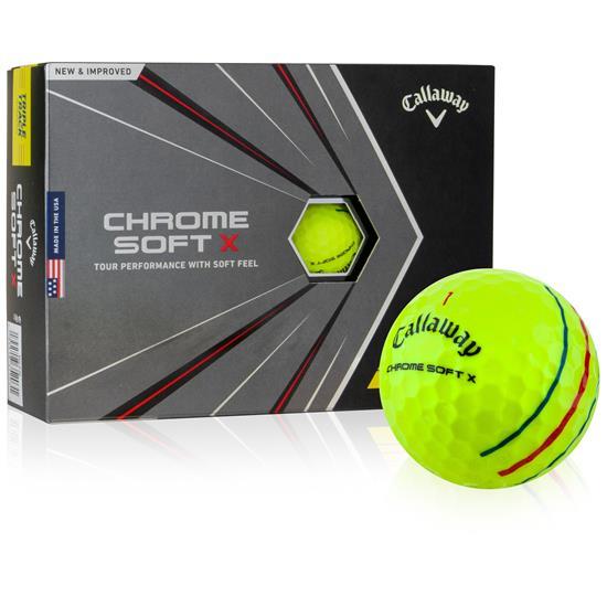 Callaway Golf Chrome Soft X Yellow Triple Track Golf Balls