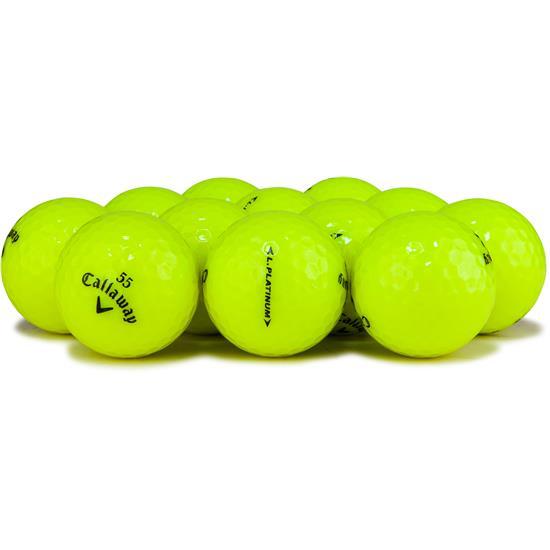 Callaway Golf Legacy Platinum Yellow Logo Overrun Golf Balls