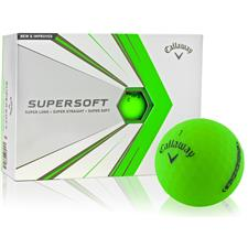 Callaway Golf Custom Logo Supersoft Green Golf Balls - 2021 Model