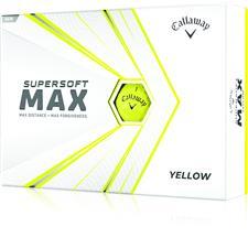 Callaway Golf Supersoft Max Yellow Golf Balls - 2021 Model