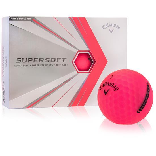 Callaway Golf Supersoft Pink Golf Balls - 2021 Model