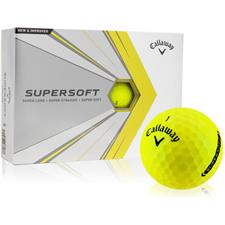Callaway Golf Supersoft Yellow Golf Balls - 2021 Model
