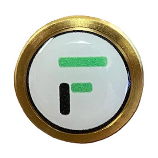 Logo Golf Tour Brass Ball Marker