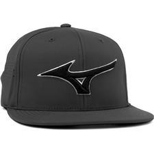 Mizuno Men's Tour Flat Snapback Hat - Dark Charcoal