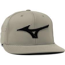 Mizuno Men's Tour Flat Snapback Hat - Grey