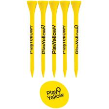 Play Yellow 5 Tee, 1 Ball Marker Set