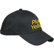 Play Yellow Men's 6 Panel Structured Hat