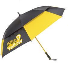 Play Yellow 62 Inch Golf Umbrella