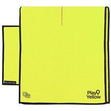 Play Yellow Club Glove Microfiber Caddy Towel