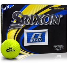 Srixon Custom Logo Q-Star Yellow Golf Balls
