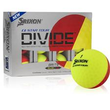 Srixon Q-Star Tour Divide Yellow/Red Golf Balls