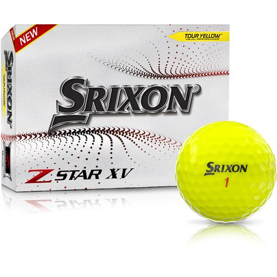 Srixon Z-Star XV 7 Yellow Golf Balls - 2021 Model