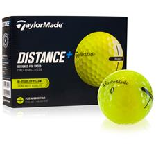 Taylor Made Distance+ Yellow Personalized Golf Balls