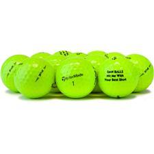 Taylor Made Logo Overrun Prior Generation TP5 Yellow Golf Balls