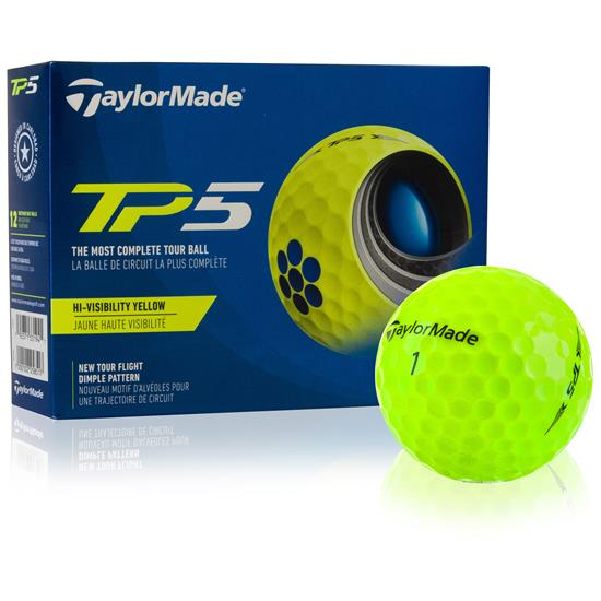 Taylor Made TP5 Yellow Personalized Golf Balls