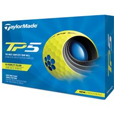 Taylor Made Custom Logo TP5 Yellow Golf Balls - 2021 Model