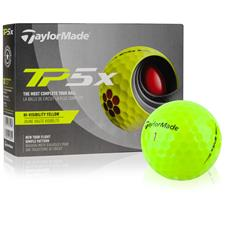 Taylor Made TP5x Yellow Personalized Golf Balls