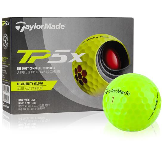 Taylor Made TP5x Yellow Golf Balls - 2021 Model