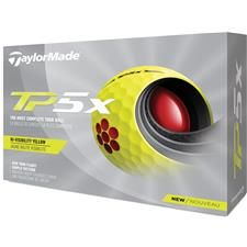 Taylor Made Custom Logo TP5x Yellow Golf Balls - 2021 Model