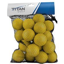 Titan Golf Foam Practice Yellow Golf Ball - 24 Pack