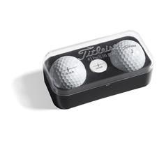 Titleist Custom Logo 2-Ball Marker Box with Custom Ball Marker