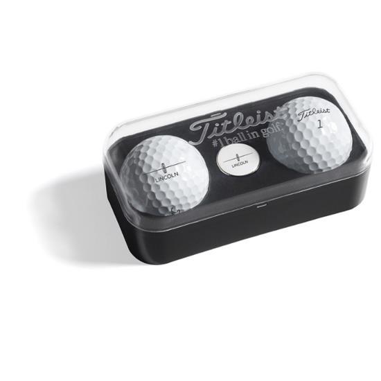 Titleist 2-Ball Marker Box with Custom Ball Marker