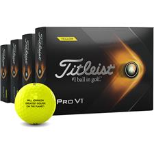Titleist 2021 Pro V1 Yellow Personalized Golf Balls - Buy 3 Get 1 Free