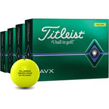 Titleist AVX Yellow Golf Balls - Buy 3 DZ Get 1 DZ Free