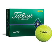 Titleist AVX Yellow Personalized Golf Balls