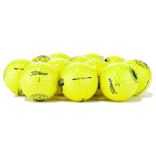 Titleist DT SoLo Yellow Logo Overrun Golf Balls