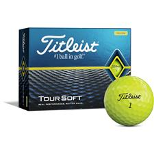 Titleist Tour Soft Yellow Personalized Golf Balls