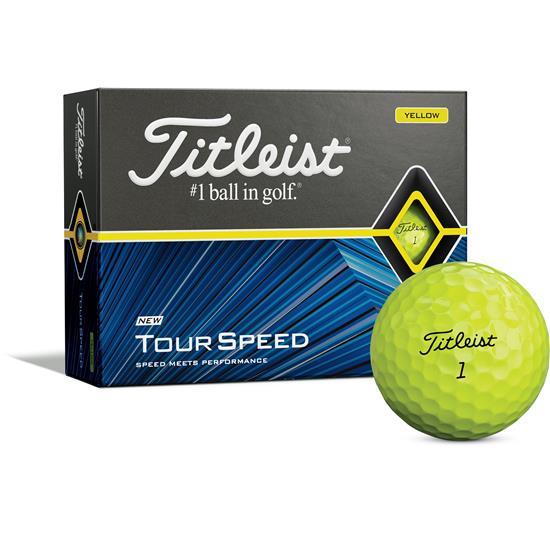 Titleist Tour Speed Yellow Golf Balls