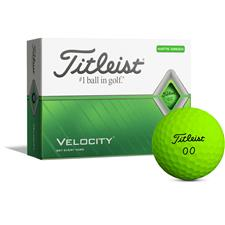 Titleist Velocity Matte Green Golf Balls