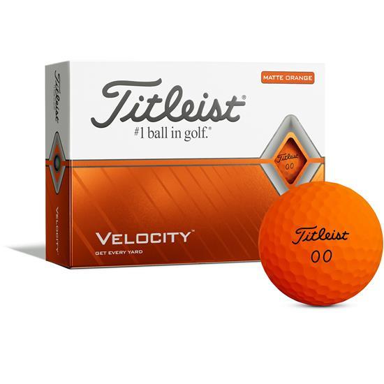 Titleist Velocity Matte Orange Golf Balls