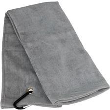 Tri-Fold Personalized Golf Towel - Silver