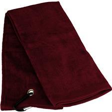 Tri-Fold Personalized Golf Towel - Burgundy