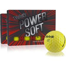 Volvik Power Soft Yellow Golf Balls - Double Dozen
