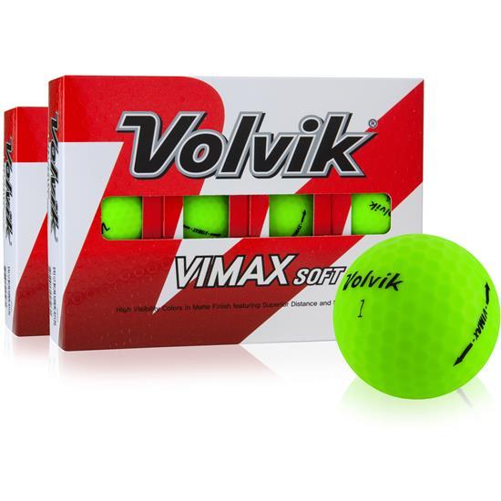 Volvik VIMAX Soft Matte Green Golf Balls - Double Dozen