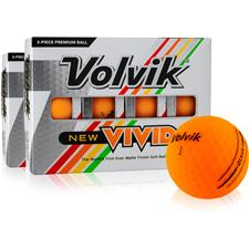 Volvik Vivid Matte Orange Golf Balls - Double Dozen