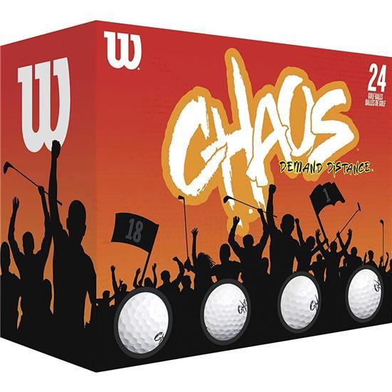 Wilson Chaos Double Dozen Golf Balls - 2021 Model