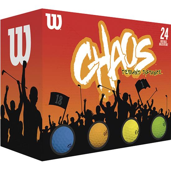 Wilson Chaos Multi Color Double Dozen Golf Balls - 2021