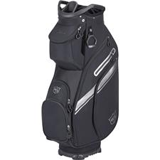 Wilson Staff EXO Cart Personalized Bag - 2021 Model - Black-Black-Silver