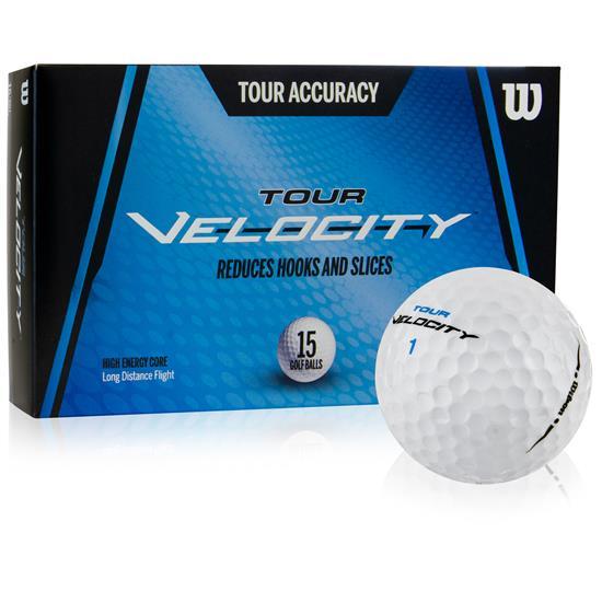 Wilson Tour Velocity Accuracy Golf Balls - 15 Pack